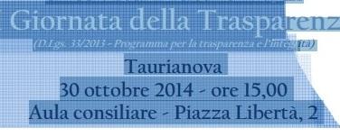 Taurianova, 1° Giornata della Trasparenza