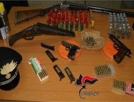 Mini arsenale a cardeto: arrestato Cilione