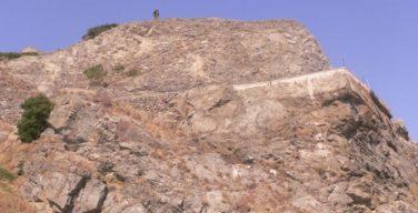 Foto del costone roccioso Capo S Giovanni D Avalos