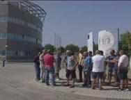 Porto di Gioia Tauro, i lavoratori licenziati delle ditte esterne protestano