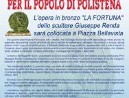 """Polistena, l'opera in bronzo """"LA FORTUNA"""" dello scultore Giuseppe Renda sarà collocata a Piazza Bellavista"""