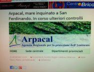 Arpacal, mare inquinato a San Ferdinando