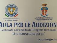 """Locri, inaugurazione stanza dedicata alle """"persone vittime di violenza""""."""