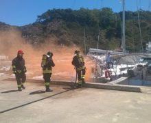 Esercitazione antincendio nel porto di Palmi