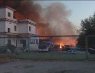 Gioia Tauro, societa' che smaltisce rifiuti industriali colpita da un incendio