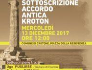"""Al via il progetto """"Antica Kroton"""": previsto un investimento di 61,6 milioni di euro"""