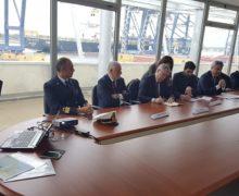 Il porto di Gioia Tauro, ultima tappa della visita di Pat Cox in Calabria