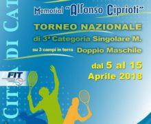 """Tennis, XII edizione Memorial Alfonso Ciprioti"""""""