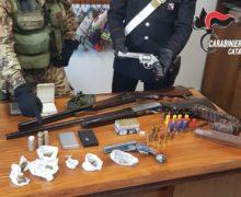 Pistole e fucili trovati nel soveratese