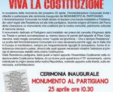 Polistena, il 25 Aprile si inaugura il monumento al Partigiano