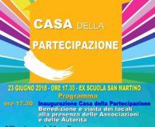 """TAURIANOVA Sarà inaugurata domani, Sabato 23 giugno alle ore 17.30, la """"Casa della partecipazione"""" presso l'ex scuola di San Martino."""
