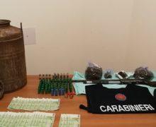 Mammola: rinvenute armi, munizioni, stupefacenti e denaro in area montana