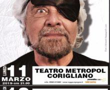 Beppe Grillo conferma 4 spettacoli in Calabria a marzo:  11 Corigliano, 12 Catanzaro, 13 Reggio e 14 marzo Rende.