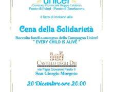"""La """"Cena della Solidarietà"""" a San Giorgio Morgeto"""