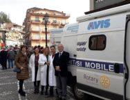 """Quarto appuntamento con i medici del """"Camper della Salute"""" del Rotary club di Lamezia Terme, per le vaccinazioni antinfluenzali gratuite"""