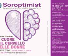 """Il Soroptimist promuove un Incontro sulla medicina di genere: """"Il cuore e il cervello delle donne"""""""