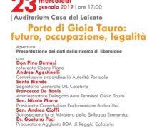 Porto di Gioia Tauro: futuro, occupazione, legalità… solo se liberi dalla 'ndrangheta.