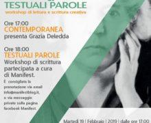 Contemporanea su Grazia Deledda e il workshop di scrittura Testuali parole