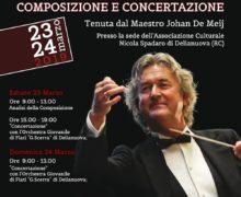"""Master Class e Concerto al Teatro """"F. Cilea"""" di Reggio Cal. con il Maestro Johan De Meij"""