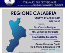 Lega Lamezia: Sottosegretario Durigon ospite e relatore all'Accademia Federale Lega-Calabria