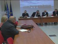 Gioia tauro, conferenza stampa del commissario autorita' Portuale Andrea Agostinelli