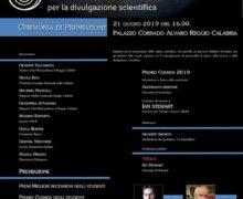 Cosmos 2019: il 21 giugno la cerimonia di premiazione a Palazzo Alvaro Presenti i vincitori Luca Perri e Ian Stewart