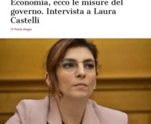 Il delirio della vice ministra Castelli: In Italia mancano le mascherine perche' gli italiani le vogliono griffate