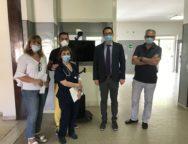 Campagna SOSTENIAMOCI: donati all'ospedale di Polistena termo-scanner e barella bio-contenitiva.