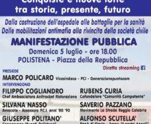 Pci e piattaforma Berlinguer ritornano in Piazza domenica 5 luglio su sanità e lotta alle mafie.