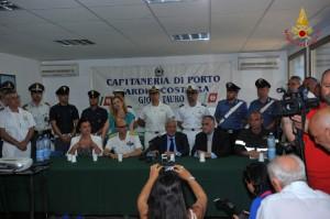 Conf. Stampa Ministro Galletti Capitaneria di porto di Gioia Tauro