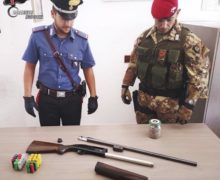 Ennesimo rinvenimento di armi da parte dei carabinieri a Cimina'