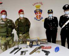 Seminara, scoperto un vero e proprio arsenale, arrestati padre e figlio dai Carabinieri