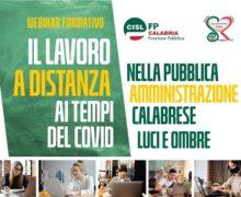 Lavoro a distanza ai tempi del Covid nella PA – webinar Cisl FP Calabria e Coordinamento Donne Cisl