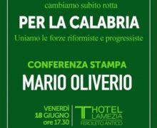 Lamezia, conferenza stampa Mario Oliverio