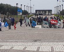 Manifestazione sindacale per la situazione del Corap