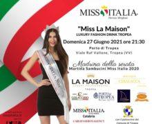 Miss Italia Calabria 2021. La prima selezione il 27 giugno a Tropea con una madrina d'eccezione: Martina Sambucini, Miss Italia 2020