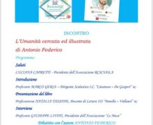 """Reggio, presentazione del libro di Antonio Federico """"L'umanità cercata ed illustrata"""