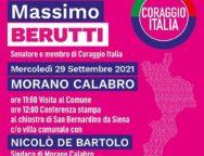 Regionali, il Senatore Berutti in Calabria per la campagna elettorale di Coraggio Italia