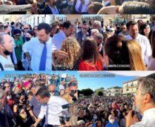 Salvini in Calabria per la chiusura nazionale della campagna elettorale.