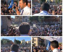 Lega, una marea di persone per accogliere Salvini