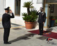 Il Generale Andrea Paterna, Comandante della Legione Carabinieri Calabria, saluta il Comando Provincialedi Reggio Calabria