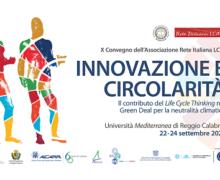 """""""Innovazione e circolarità"""": il 22 settembre il via al X Convegno dell'Associazione Rete Italiana LCA alla """"Mediterranea"""" di Reggio Calabria"""